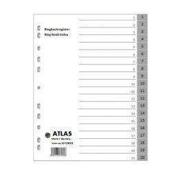 Divider-Atlas Plastic 1-20