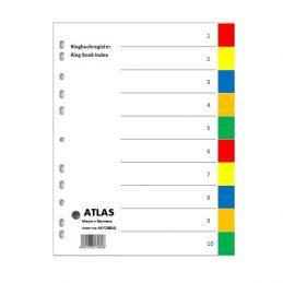 Divider-Atlas Plastic 1-10 - Colour