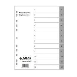 Divider-Atlas Plastic 1-12