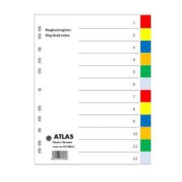 Divider-Atlas Plastic 1-12 - Colour