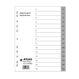Divider-Atlas Plastic 1-15