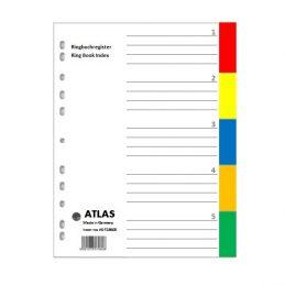 Divider-Atlas Plastic 1-5 - Colour