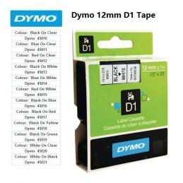 Labels Dymo 12mm D1 Tape