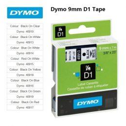 Labels Dymo 9mm D1 Tape